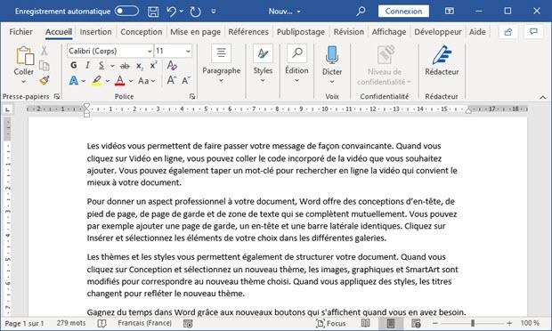 Insérer du texte aléatoire dans un document Microsoft Word
