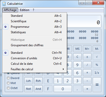 calculatrice Windows