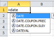 Fonction date excel