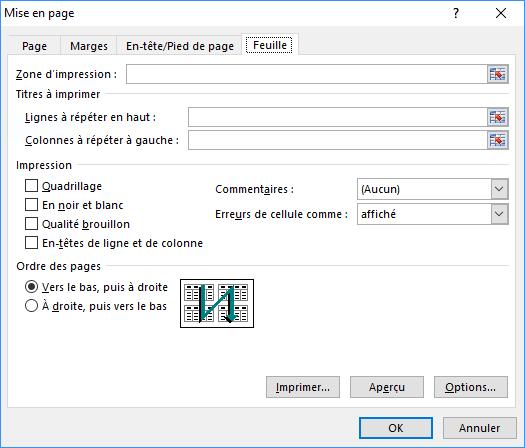 cacher les valeurs d'erreur Excel lors de l'impression