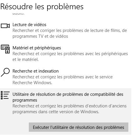 utilitaire de résolution des problèmes audio windows 10