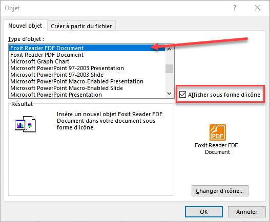 selectionner un lecteur PDF