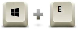 Raccourci clavier windows + E