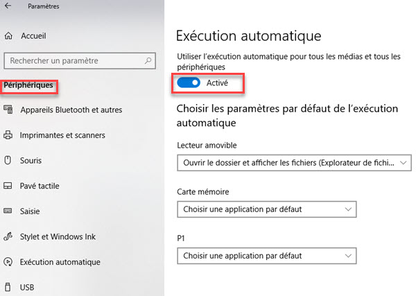 Exécution automatique windows