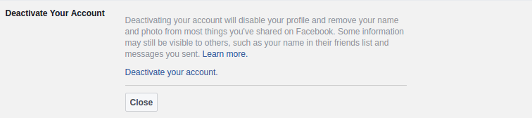 Désactiver un compte facebook définitivement