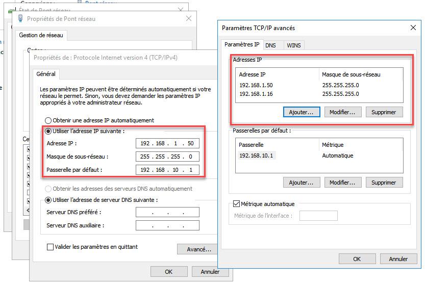Attribuer plusieurs adresses IP à une carte réseau