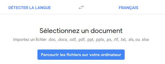 Parcourir fichier PDF à traduire