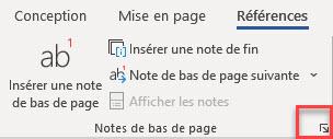 personnaliser les notes de bas de page et de fin
