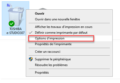 options d'impression windows 10